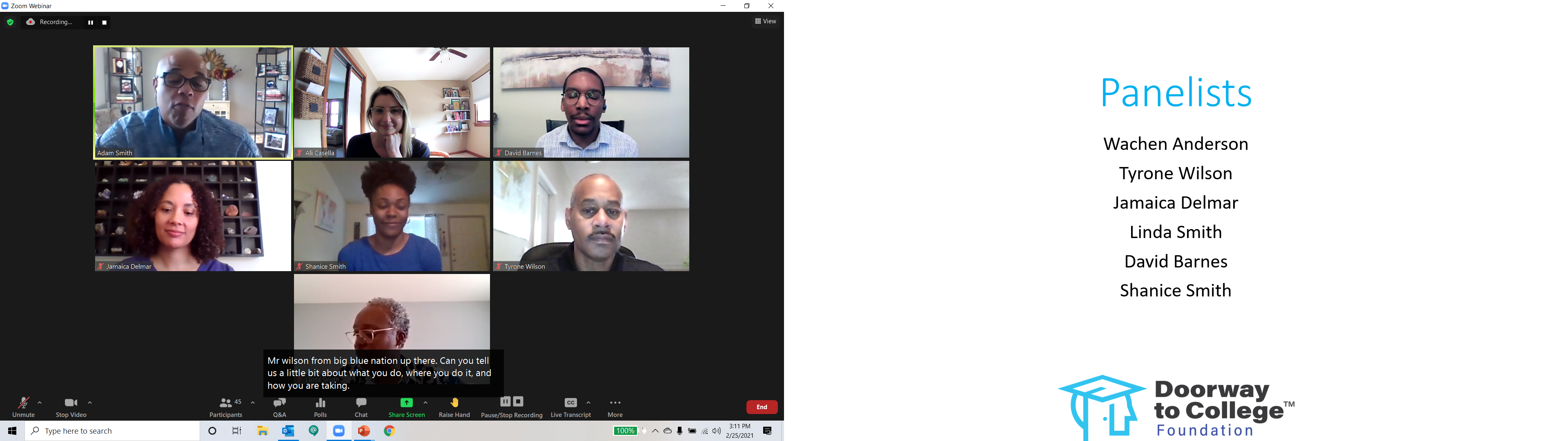 Ali Casella and Adam Smith host Real Talk: Admissions/Advising Professionals Reflect on Inequity